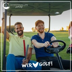 Freunde beim Golf
